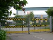 English: Former EMI Distribution Centre, Hermes Close, Leamington Spa EMI was quite a catch for Leamington but the business has fallen victim to internet distribution and file-sharing. The site is up for sale. The building finds its way into many views of