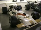 A Yardley-sponsored BRM P153. In the Donington Collection museum, Leicestershire, UK.