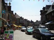 La Grande Rue (main street), Dol-de-Bretagne, Ile-et-Vilaine, Bretagne, France
