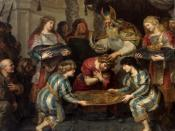 The Anointing of Solomon by Cornelis de Vos. According to 1 Kings 1:39, Solomon was anointed by Zadok.