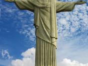 Cristo Redentor, statue on Corcovado mountain in Rio de Janeiro