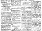 English: The front page of the London Times for December 4, 1788.