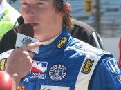 Mike Conway at the Indianapolis Motor Speedway for Bump Day for the 2009 Indianapolis 500.