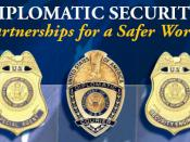 Badges of U.S. Diplomatic Security - Special Agent, Diplomatic Courier, and Security Engineer