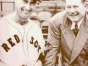 English: Description: This is a cropped version of :Image:Tedwilliams_and_tomyawkey.jpg, for use on Ted Williams. Ted Williams with Tom Yawkey