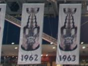 English: Toronto Maple Leafs Stanley Cup Banners in the Air Canada Center (Part2)