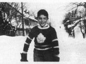 Roch Carrier as a young boy (wearing a Toronto Maple Leafs sweater) and presumably the inspiration of The Hockey Sweater