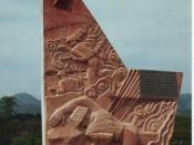 English: Viet Minh memorial on Strongpoint Beatrice, Battle of Dien Bien Phu, Dien Bien Phu, Vietnam