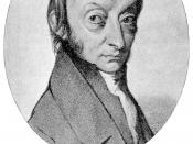 Picture or Amedeo Avogadro (1776 - 1856), the Italian scientist