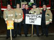 Earlham FBU picket, Norwich on New Years Eve with Kev Game