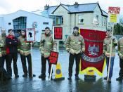 FBU picket at Carrow Fire Station this morning