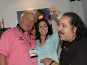Dennis Hof, Heidi Fleiss, and Ron Jeremy at the Adult Video Network Convention 2006 in Las Vegas
