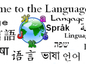 Montage of languages. Prototype header for the language portal.