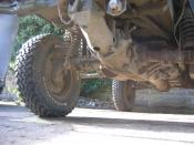 English: Steyr-Puch Pinzgauer : Portal axles and swing axles