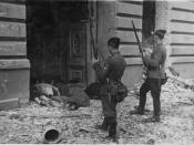 Warsaw Ghetto Uprising- Photo from Jürgen Stroop Report to Heinrich Himmler from May 1943. The original German caption reads: