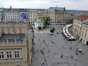 view of southeast side of Rynek Główny from Town Hall Tower
