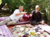 Friendship in Uzbekistan (Sigismund von Dobschütz and his friend Sattor in Hayat Village, North Uzbekistan)