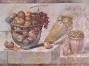 Roman painting. Second Pompeian Style, from the House of Julia Felix in Pompeii.