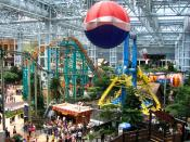 The amusement park at the center of the Mall of America