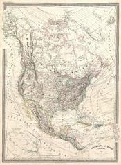1857 Dufour Map of North America - Geographicus - NorthAmerica-dufour-1857