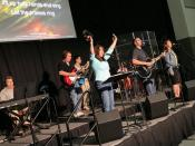 A modern Western worship team leading a contemporary worship session.