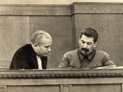 Joseph Stalin and Nikita Khrushchev, January 1936.