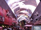 English: Fremont Experience light show. Location: Nevada, Fremont St Las Vegas