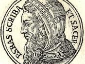 Esdras-Ezra was a Jewish priestly scribe who led about 5,000 Israelite exiles living in Babylon to their home city of Jerusalem in 459 BCE.