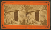 Uncle Jack and his home, from Robert N. Dennis collection of stereoscopic views 2