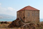 A traditional (at least for the 19th century) lebanese house on the seafront near Byblos Castle, Byblos, Lebanon. House of Ousman HOUSSAMI