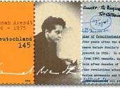Deutsch: 100. Geburtstag Hannah Arendt, Foto und Signatur Hannah Arendt: Hannah Arendt Bluecher Literary Trust, New York, USA; Manuskriptauszug: Georges Borchardt Inc., New York, USA