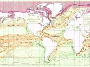 English: Ocean Currents and Sea Ice from Atlas of World Maps, United States Army Service Forces, Army Specialized Training Division. Army Service Forces Manual M-101 (1943). Türkçe: Dünyanın büyük akıntılarının şeması