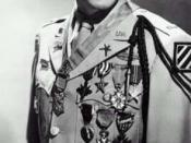 Audie Murphy, highly decorated 3rd Infantry Division officer who was awarded the Medal of Honor for his heroism during the fighting in the Bois de Riedwihr.