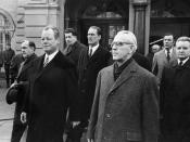 Willy Brandt and Willi Stoph in Erfurt 1970, the first time a Chancellor met a GDR prime minister