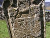 Inscription on old headstone, Loch Lee side - geograph.org.uk - 1393896