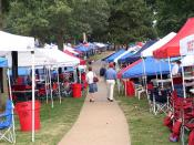 Tailgating area at the University of Mississippi (Ole Miss) known as The Grove