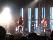 Nova Scotia band Sloan performing at Olympic Island in 2004.