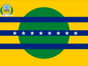 Flag of the state of Bolívar of Venezuela