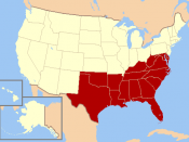 English: The southern United States, as defined by the United States Census Bureau.
