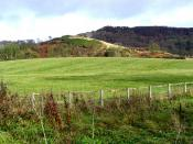 English: High Rigg. Rigg is an Old English language word meaning a bumpy fell or ridge. This one surrounds Lake Gormire.