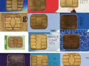 English: Scans of different types of contact pads on Smart Cards and SIMS