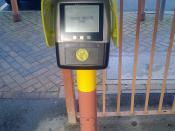 Smart card reader - Hall Green Station