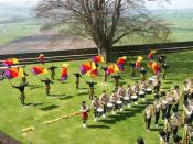English: Music in the Rose Garden at Stirling Castle Big brass band with snares and bass drums. Pleasant in the warm spring air. Johann Sebastian Bach - Jesu, Joy of Man's Desiring. A lotta flag waving. Couldn't get