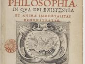 English: Original title page for the first Latin edition (1641) of the Meditationes de prima philosophiaby René Descartes