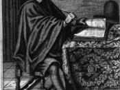 René Descartes at work