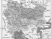 Territorial changes as a result of the First Balkan war, as of April 1913.