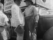 Walter Faulkner, candidate for U.S. Congress, campaigning with a Tennessee farmer. Crossville, Tennessee.