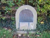 English: George Stevens' Memorial. A gem tucked away by the side of the road. In memory of the death in 1871 of the rider of five Grand National steeplechase winners.