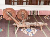 English: A Spinning wheel exposed at Presentation of Mary Convent in Sopot.