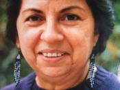 Gloria Evangelina Anzaldúa (September 26, 1942 – May 15, 2004), a Mexican American feminist, author, poet, scholar and activist. Shown in 1990 at Smith College.